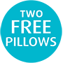 Tempur 2 Free Pillows
