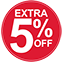 Extra 5% Off (red)