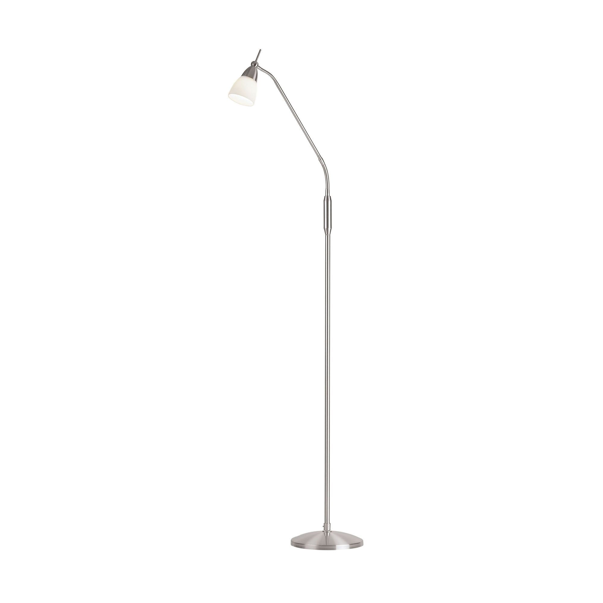 Satin chrome touch floor lamp floor lamps cookes furniture for Chrome chad floor lamp
