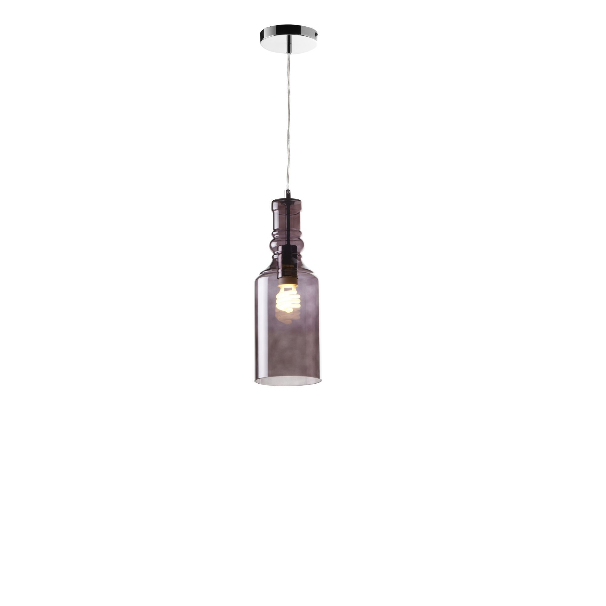 Chrome Amp Smoked Glass Pendant Ceiling Lights Cookes