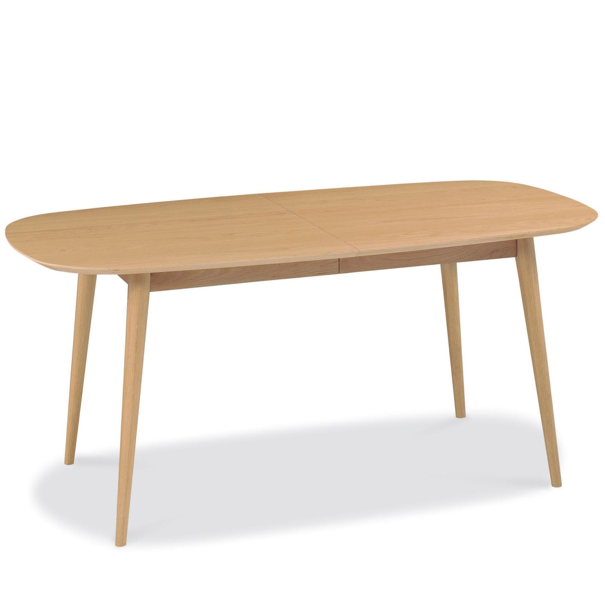 Norway Natural Oak Round Drop Leaf Dining Table Furniture Link