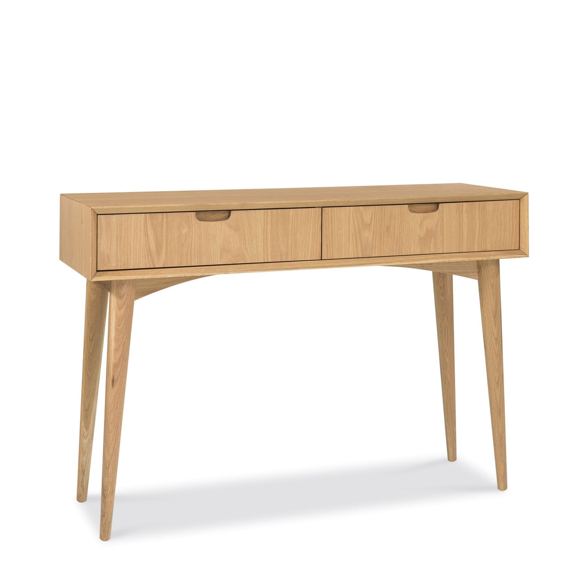 Cookes Collection Norway Oak Console Table With Drawers