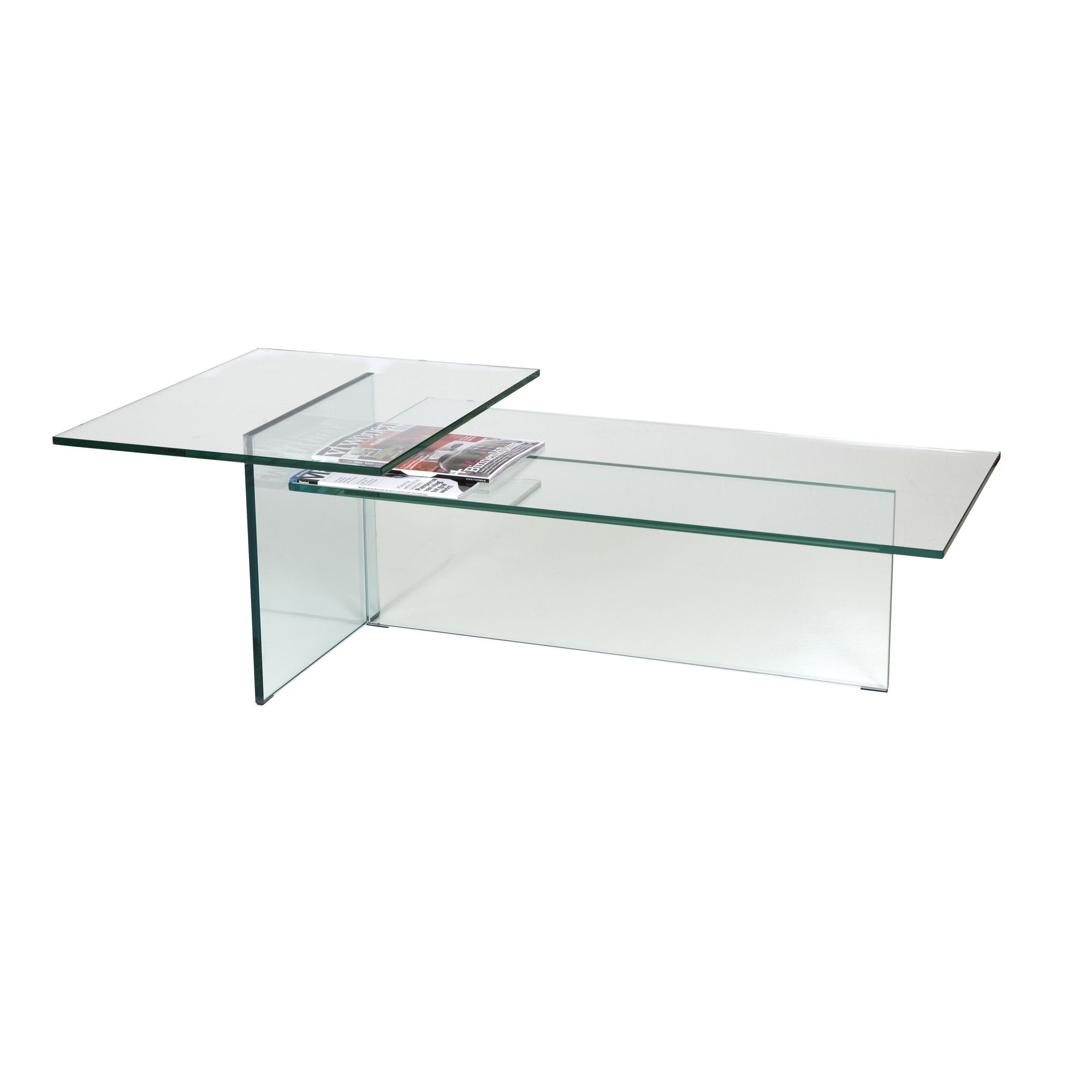 Coffee table in clear glass coffee tables cookes furniture Clear coffee table