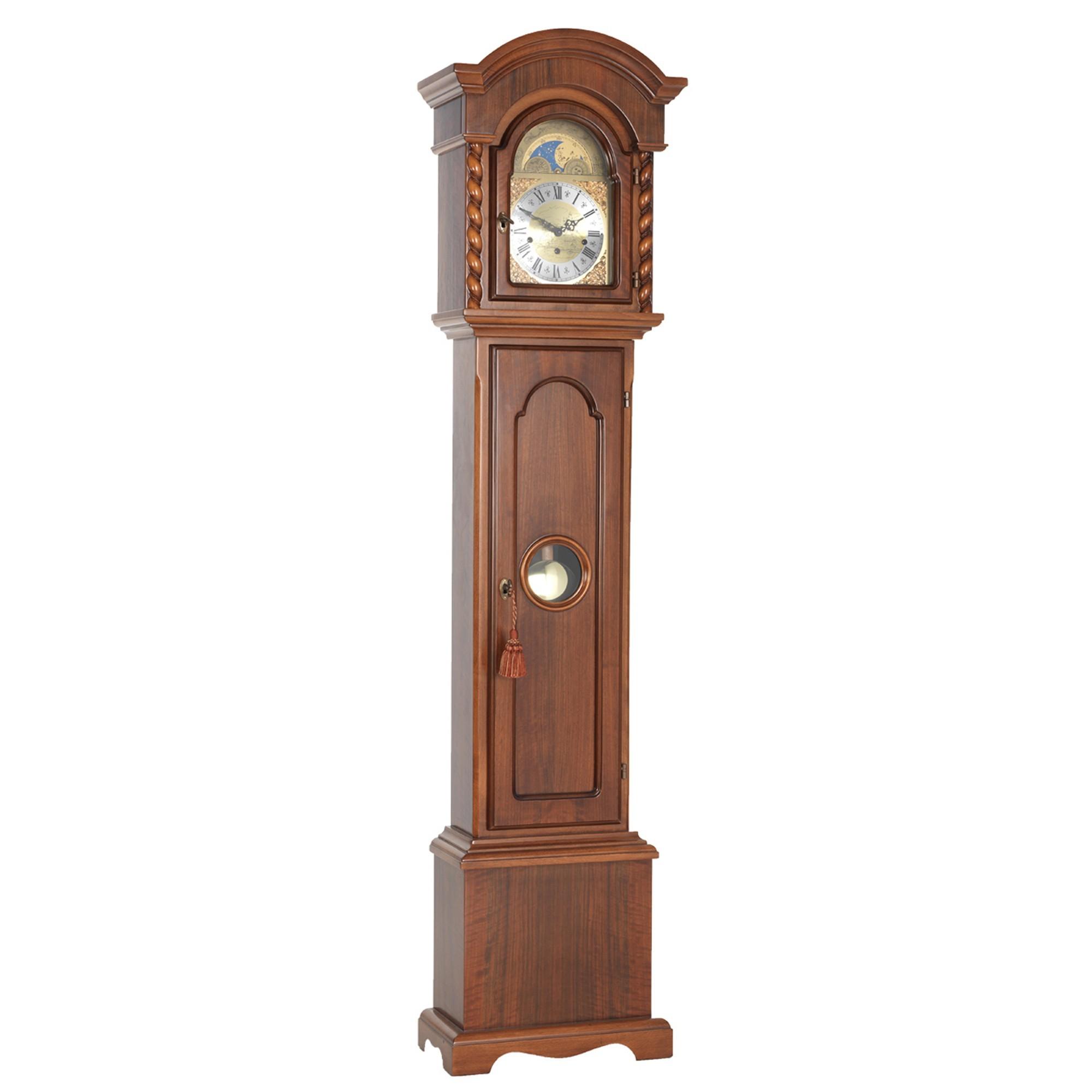 corinthian walnut finish grandmother clock