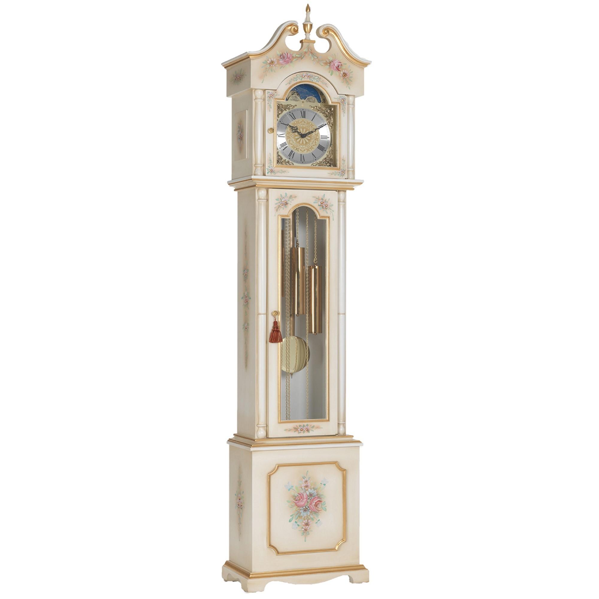 venetian white u0026 antico gold grandfather clock - Grandfather Clocks