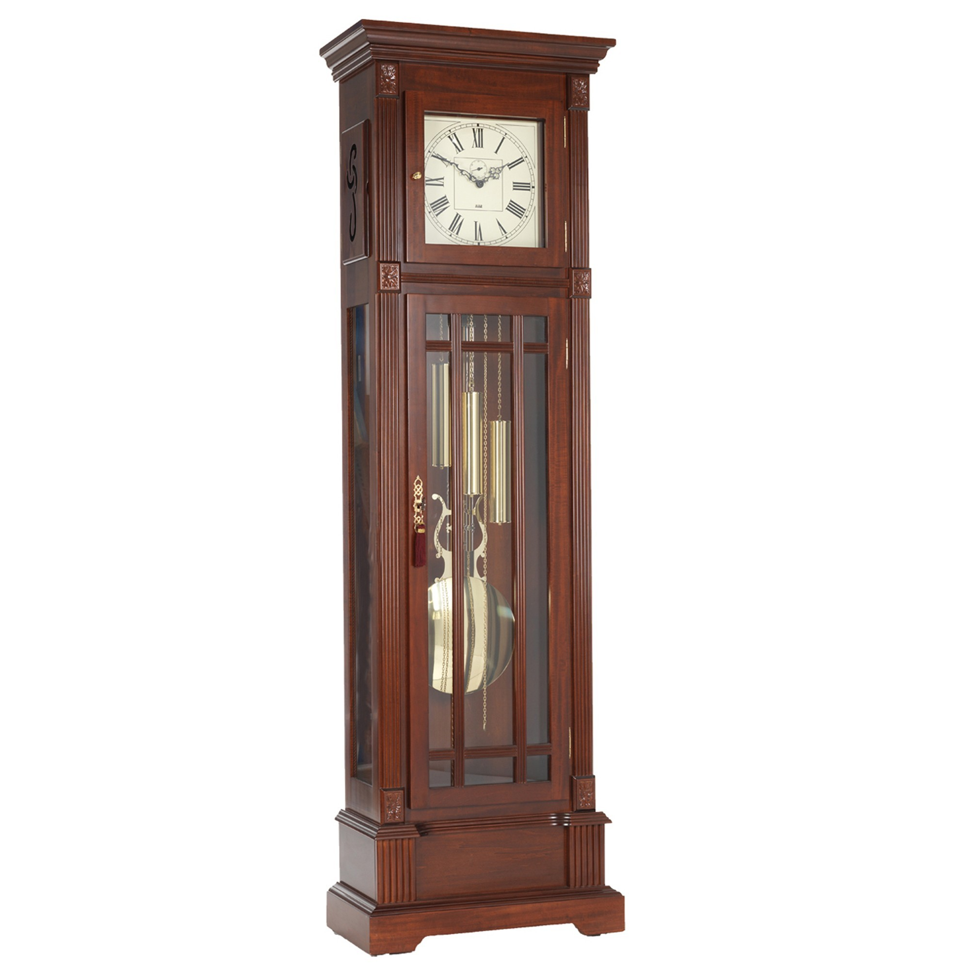 how to set a grandfather clock weights