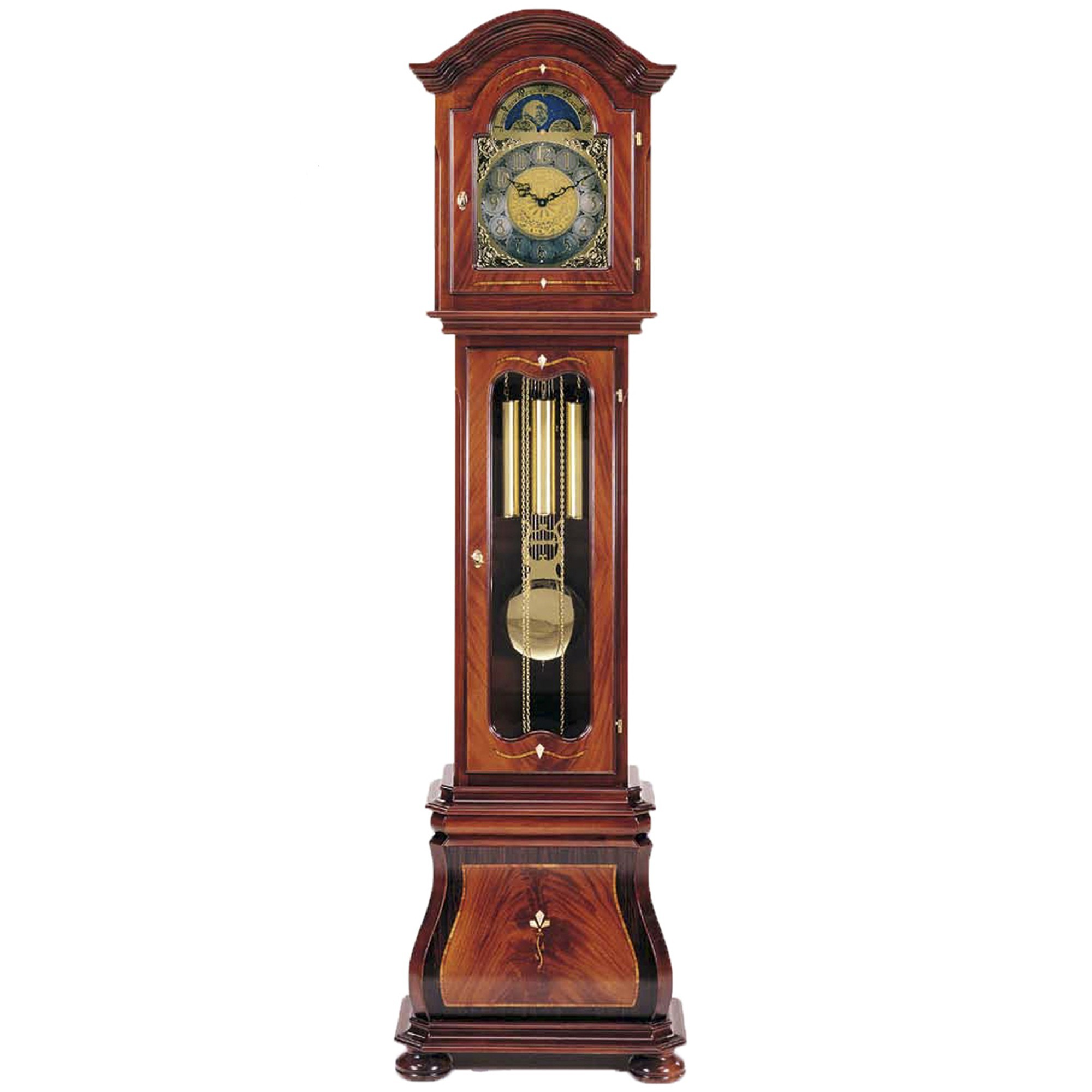 leonardo walnut grandfather clock grandfather clocks