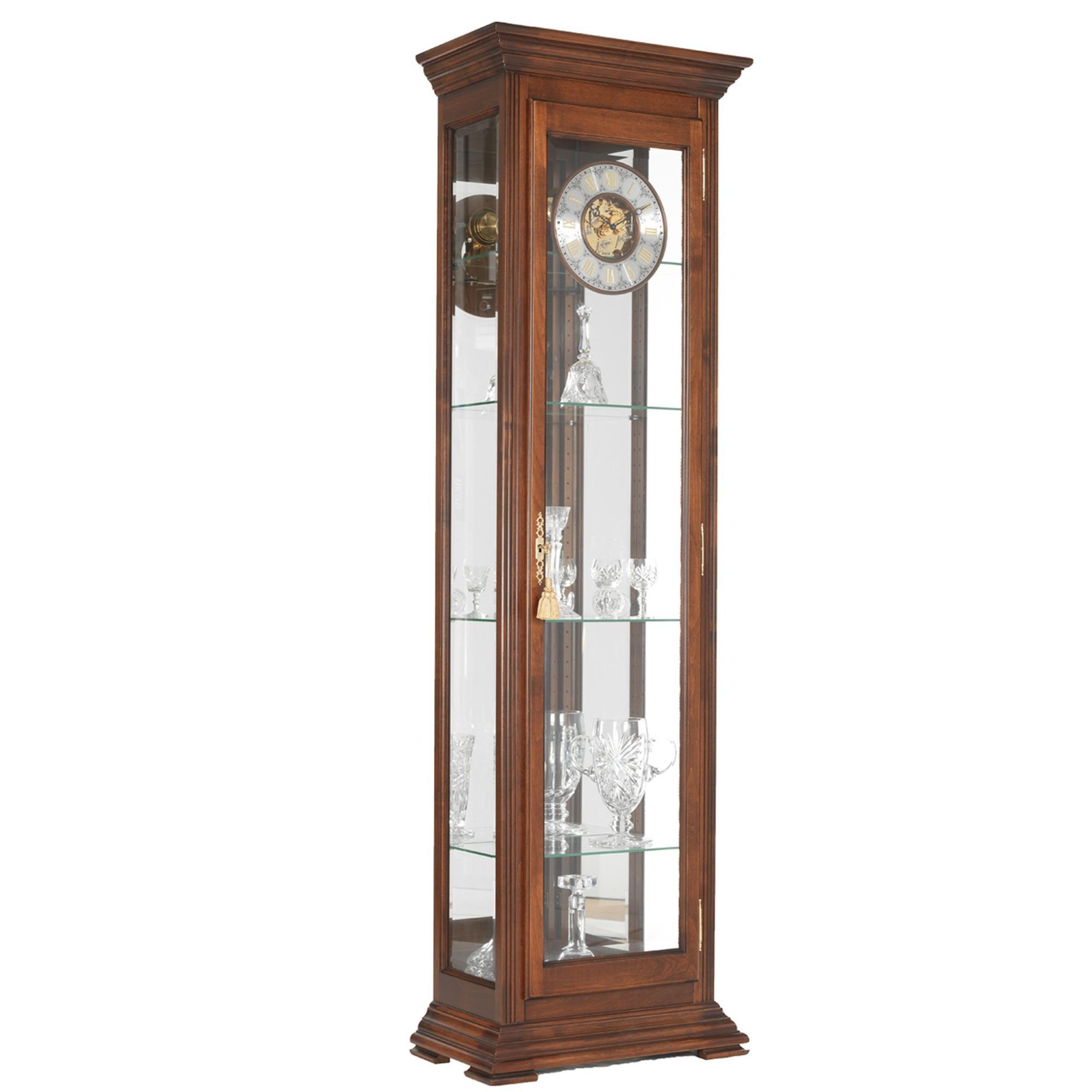 Walnut Curio Clock Grandfather Clocks Cookes Furniture