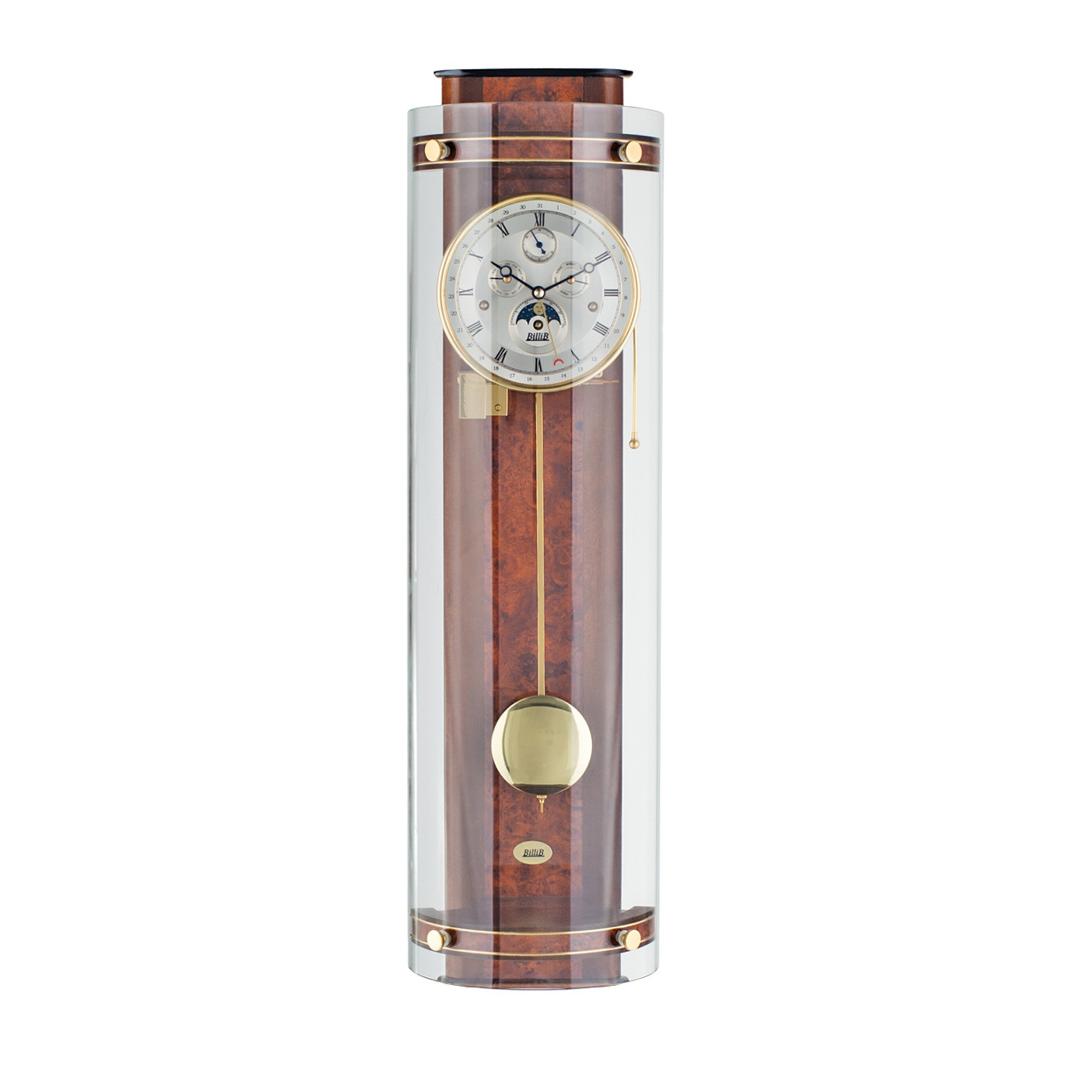 Knightsbridge Triple Chime Contemporary Wall Clock Wall
