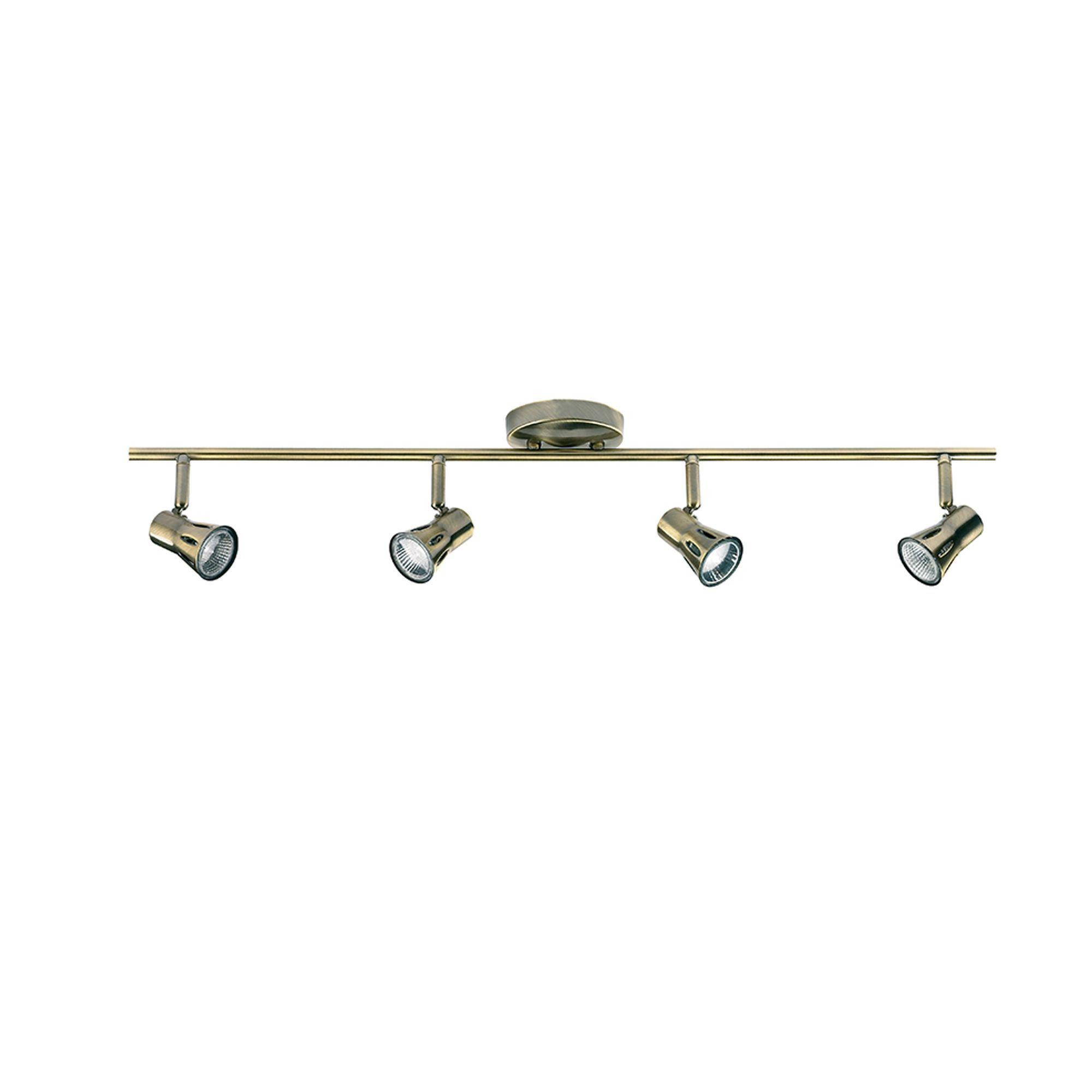 antique brass 4 spot light bar ceiling lights cookes furniture