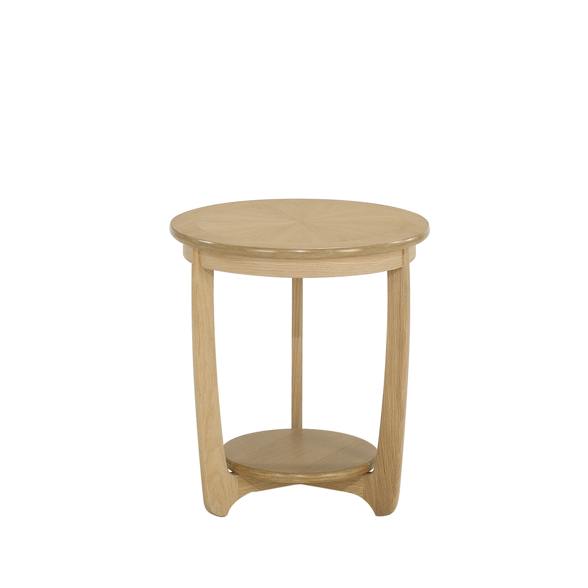 Nathan Shades Oak Sunburst Round Lamp Table Side Tables Cookes