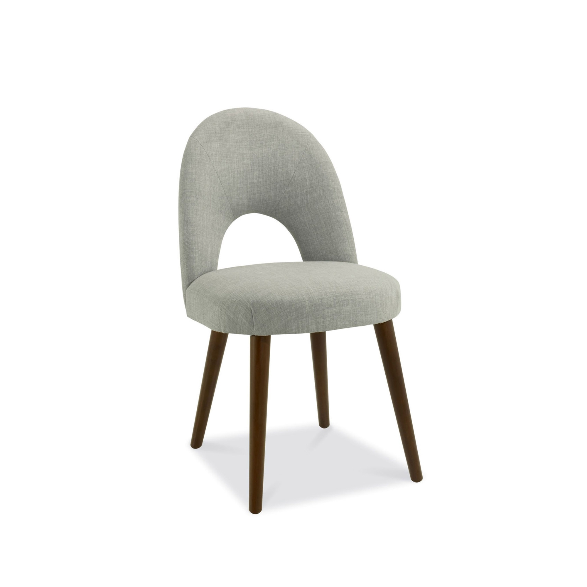 Cookes collection norway walnut upholstered dining chair for Upholstered linen dining chairs