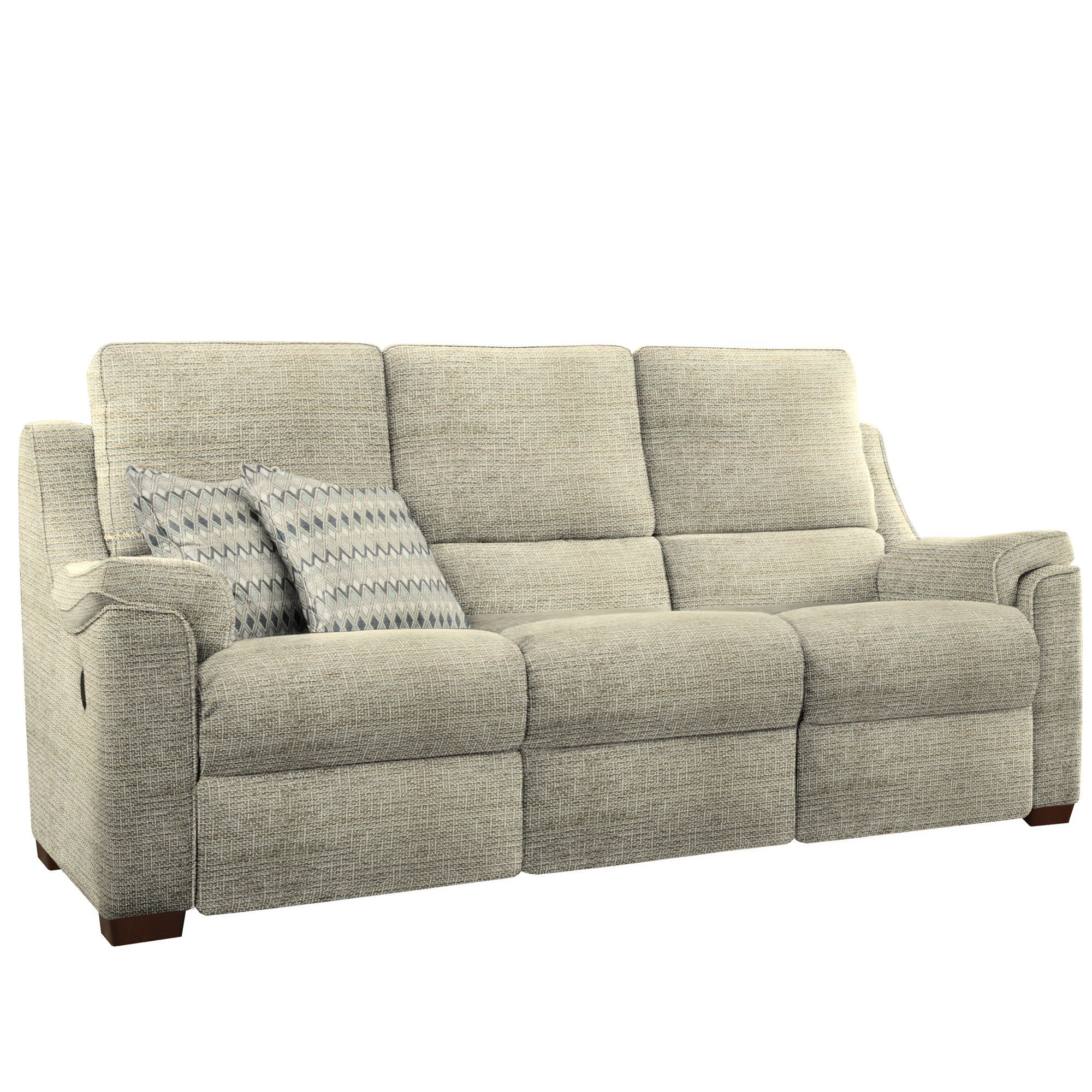 Albany 2 seat double power fabric reclining sofa by parker for Sofas ocasion