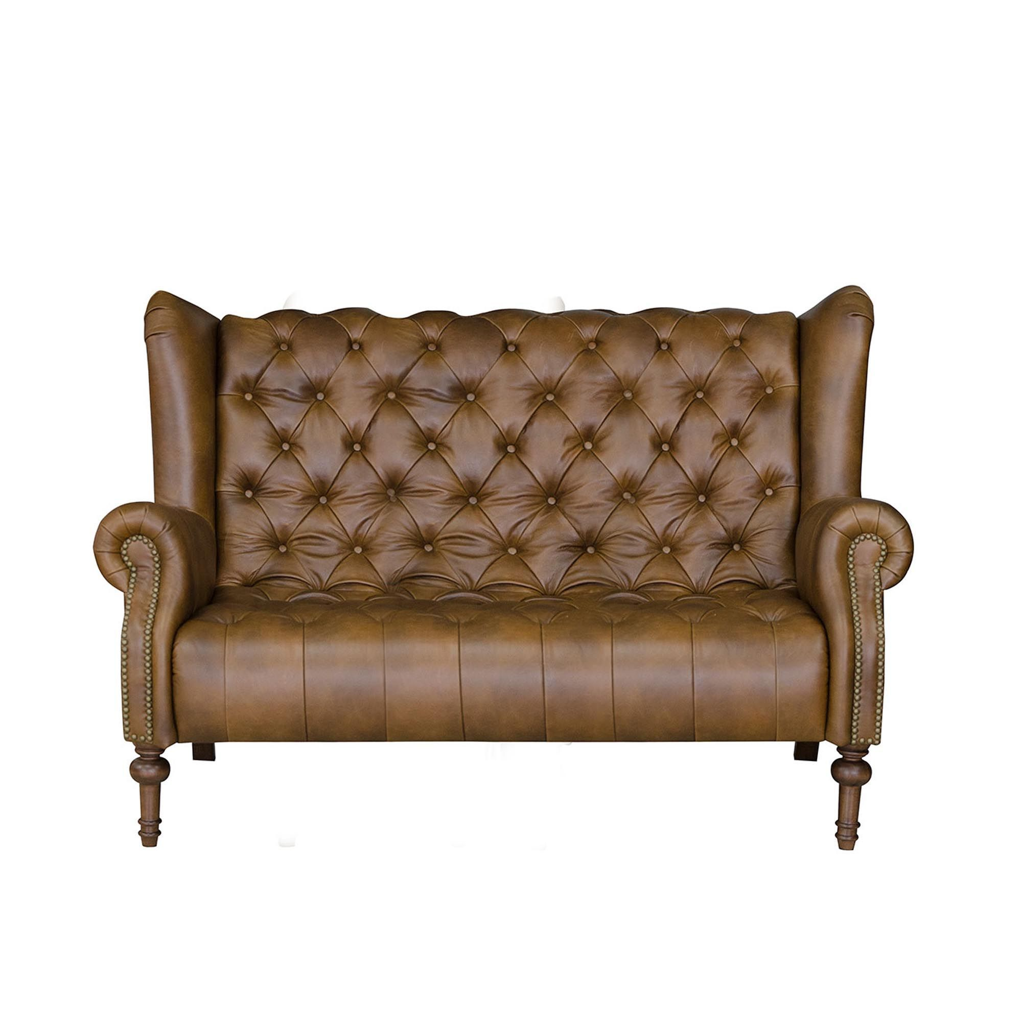 Alexander And James Theo Small Sofa In Leather Alexander & James