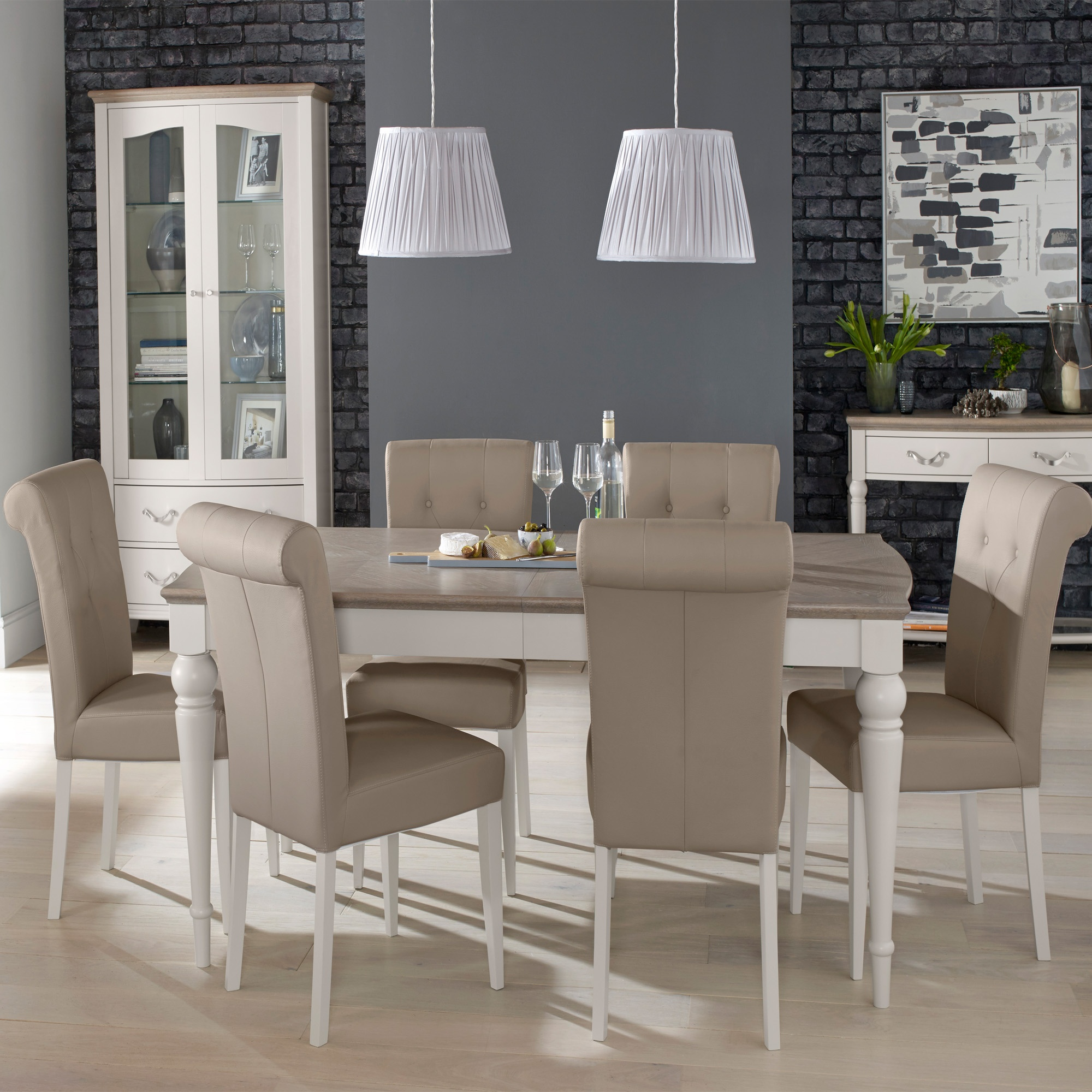 Cookes Collection Geneva Dining Table And 6 Chairs ...