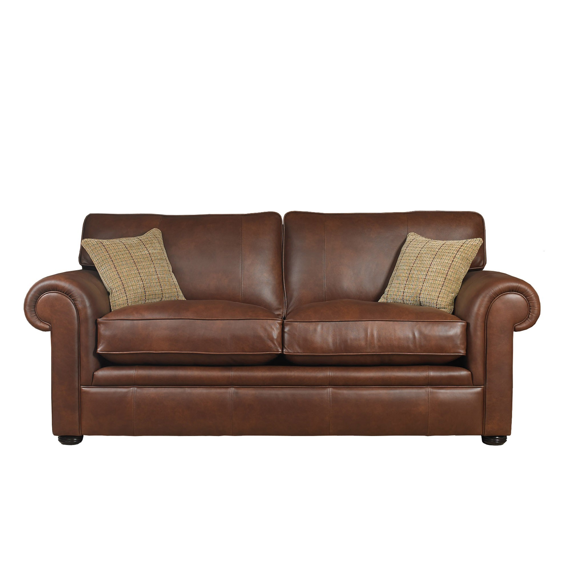 Wade Upholstery Barnaby Large Formal Back Sofa Leather