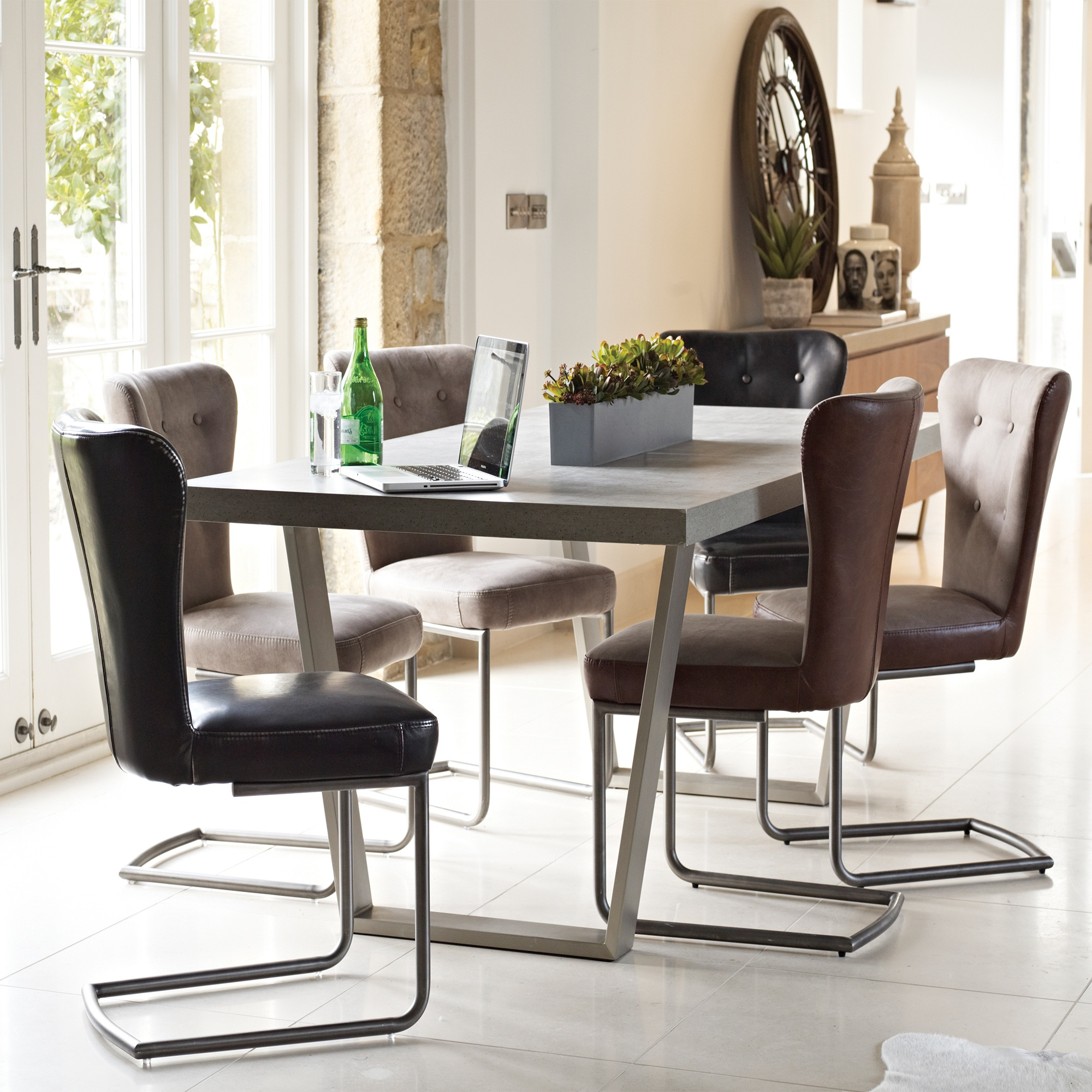 Urban large dining table and 6 chairs dining sets cookes furniture for Large dining table sets