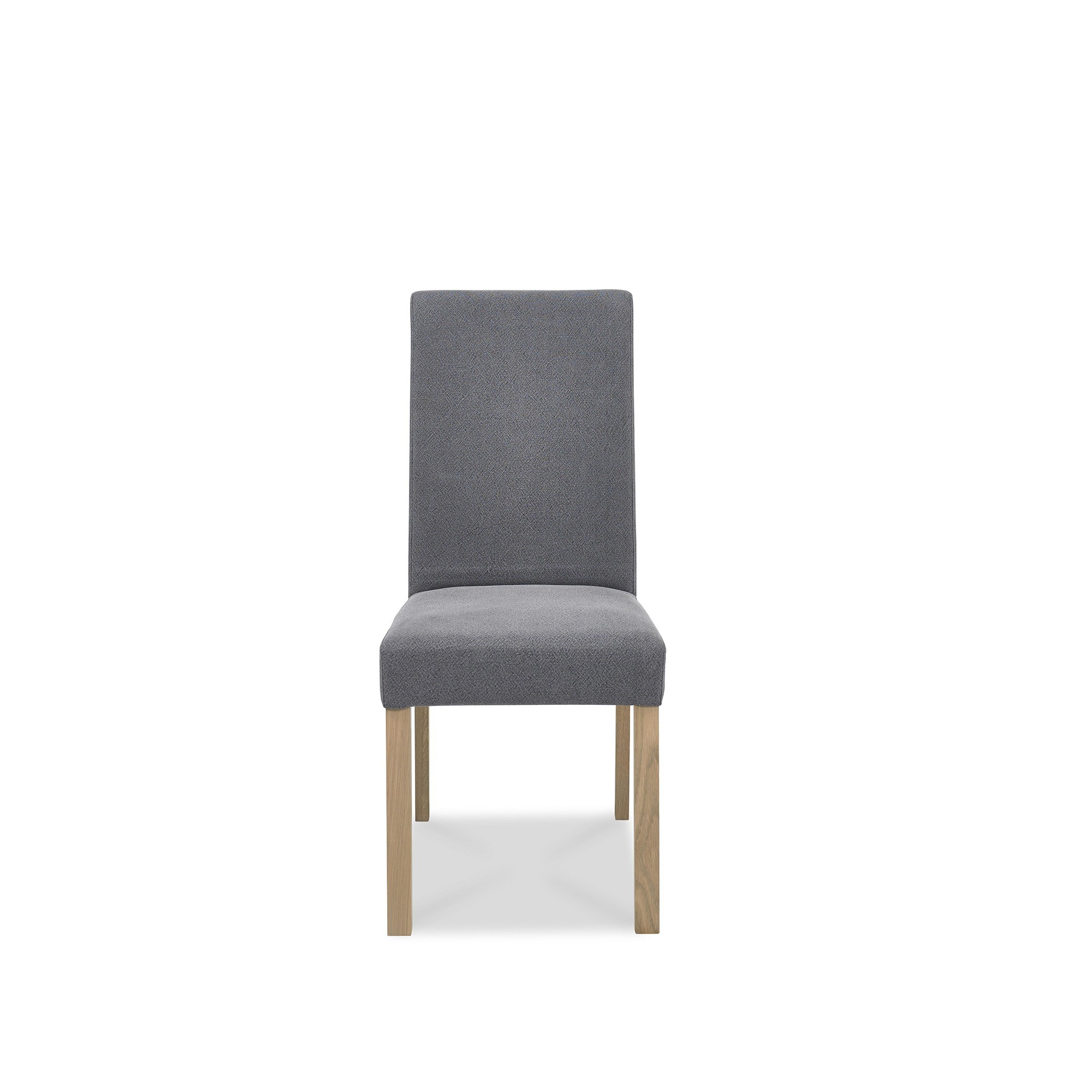 cookes collection trinity straight back dining chair in slate blue  - cookes collection trinity straight back dining chair in slate blue fabric