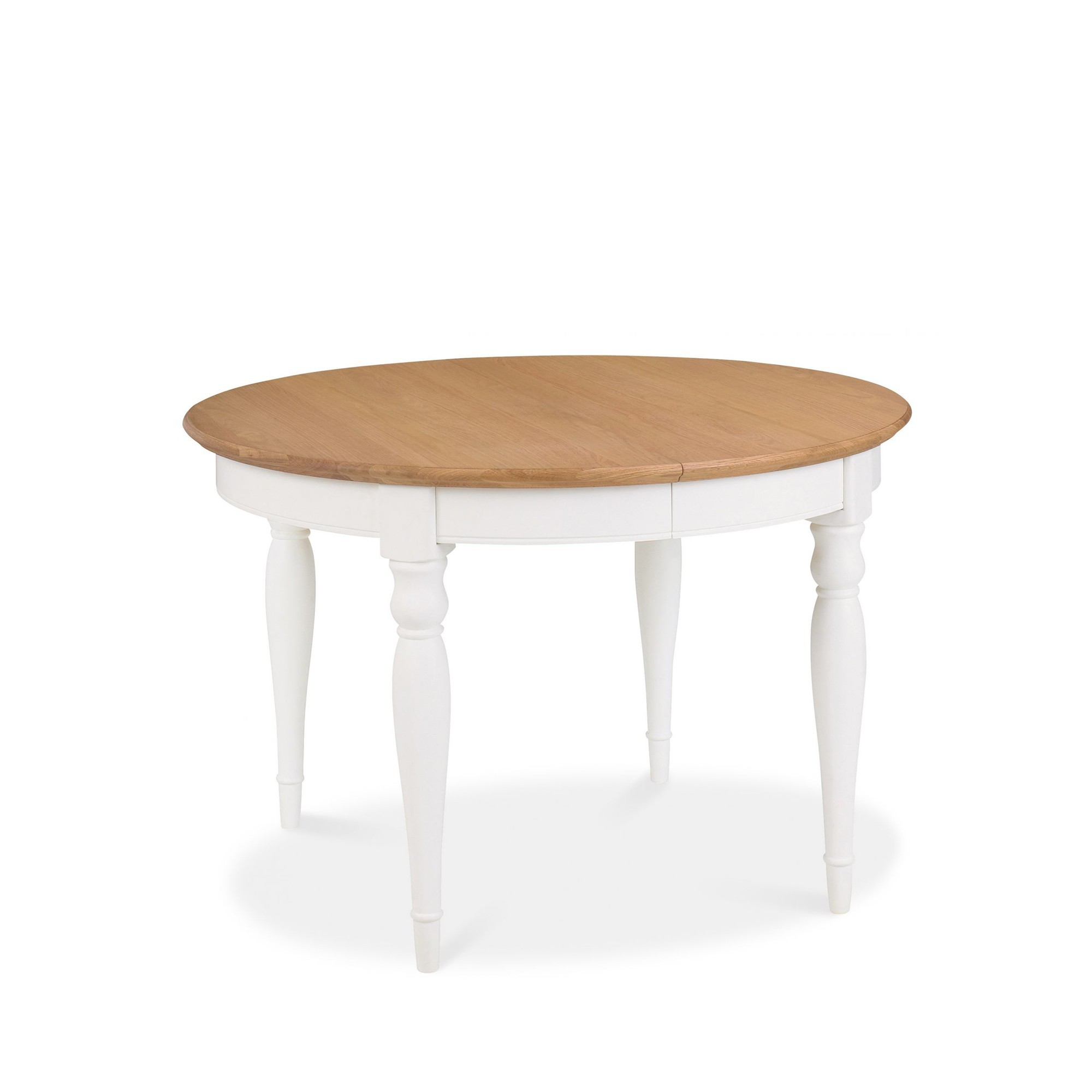 Cookes Collection Camden Two Tone Round 4 6 Extending Dining Table