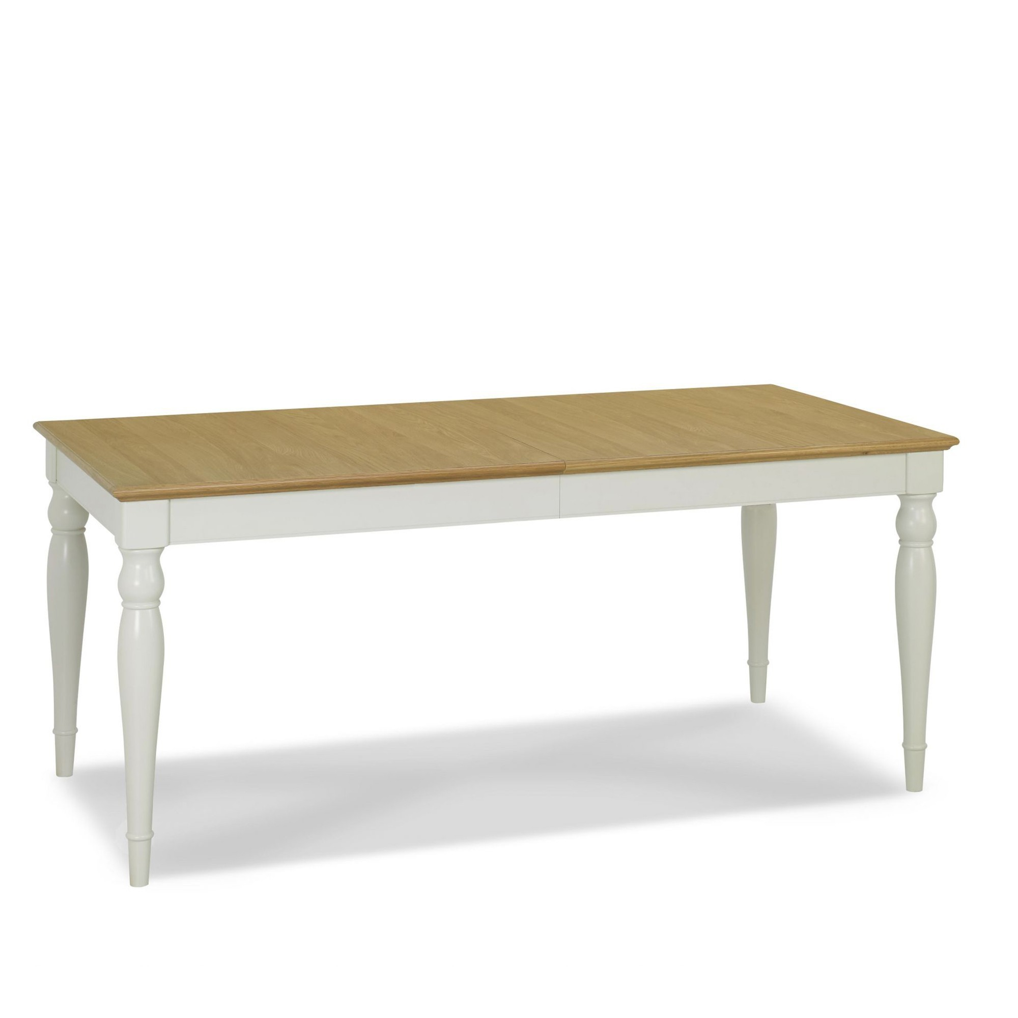 Cookes Collection Camden Soft Grey And Pale Oak Rectangular 6 8 Extending Din