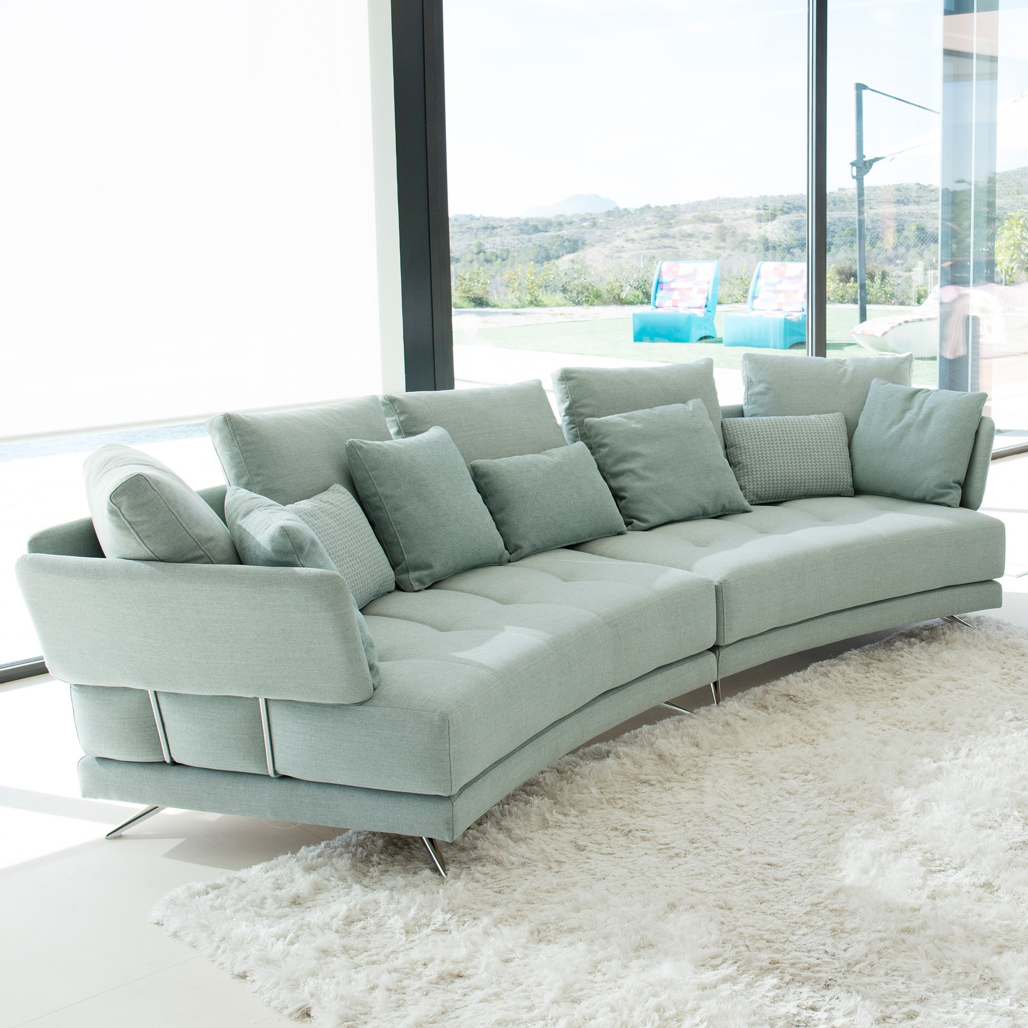 Modular Furniture Sofa: Fama Pacific Curved Modular Sofa