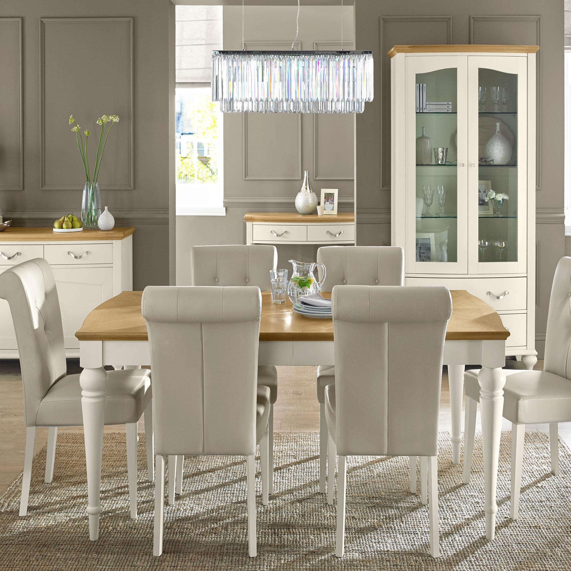 ... White Dining Table And 6 Chairs. Loading Zoom