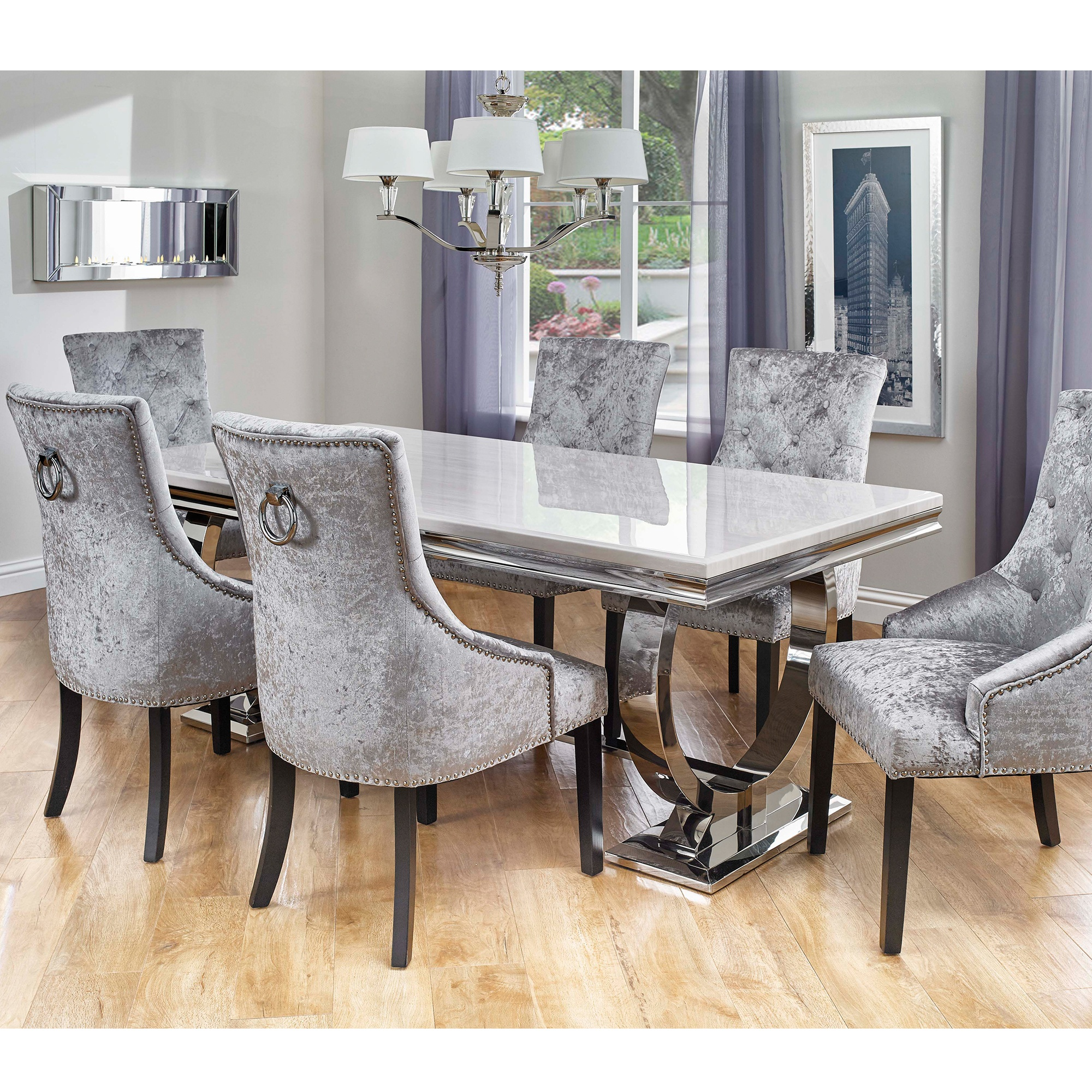 Dining Table With Two Chairs: Cookes Collection Valentina Dining Table And 6 Chairs