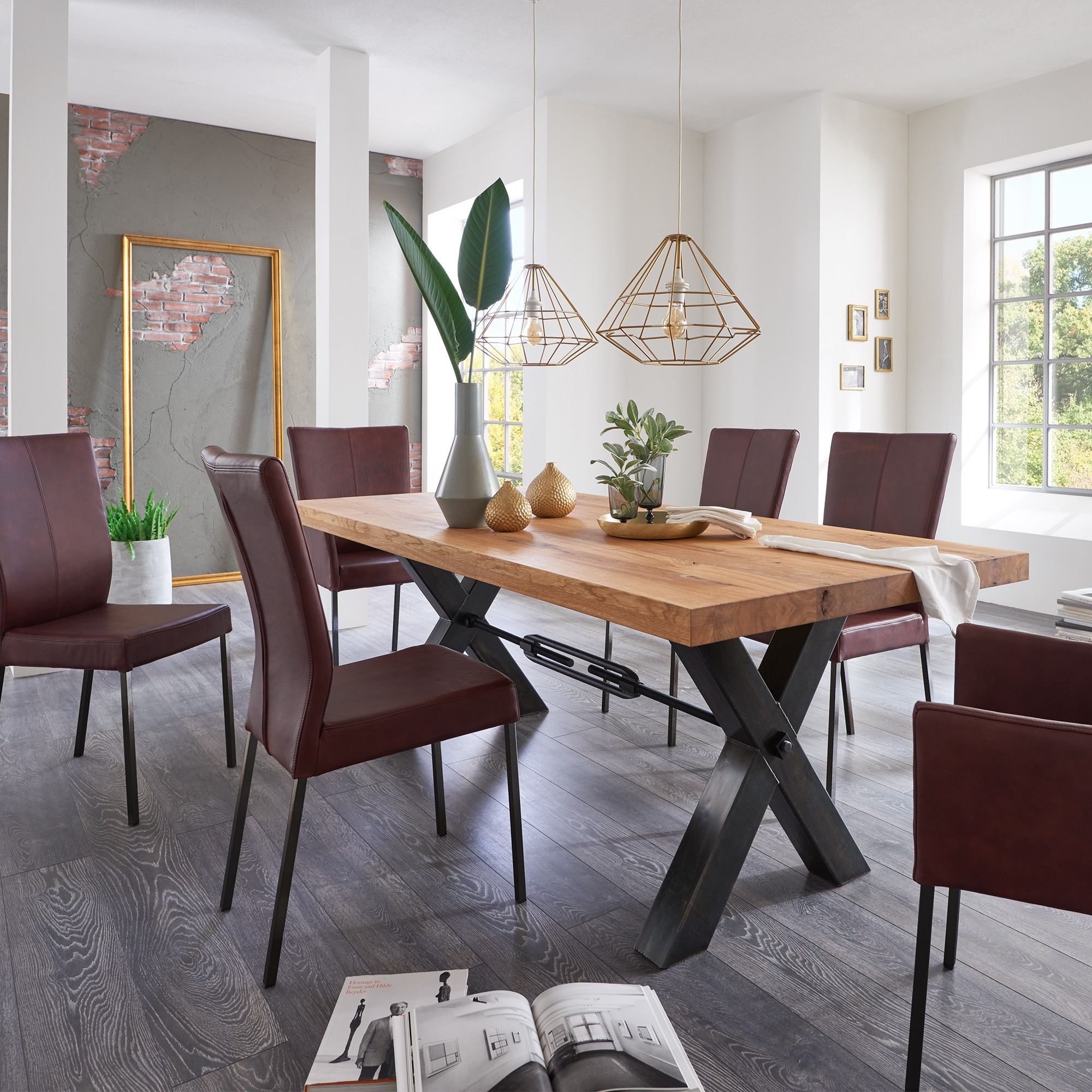 Quantum Dining Table 4 Chairs And 2 Armchairs Dining
