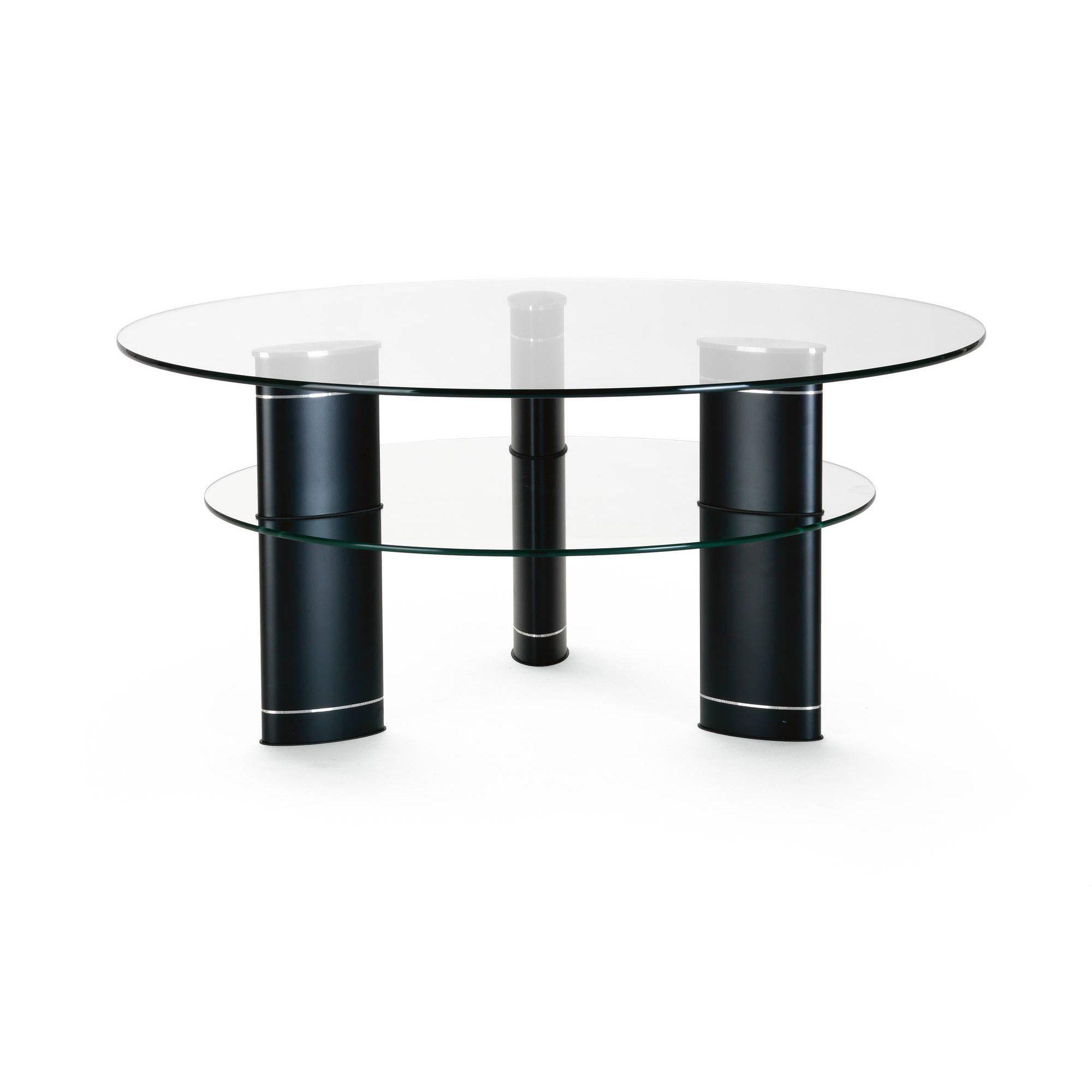 Ekornes Jazz Round Glass Table Stressless Cookes Furniture