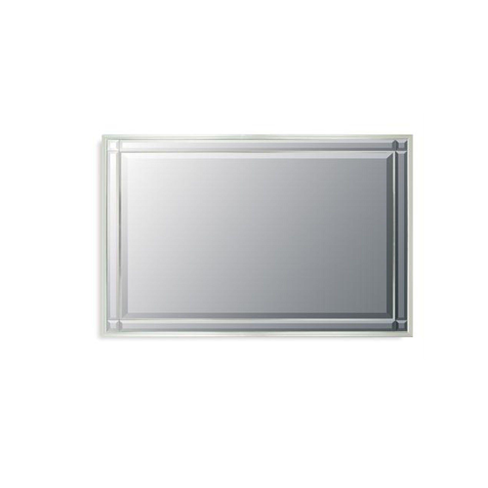 Midland mirrors silver framed mirror wall mirrors for Silver framed mirror