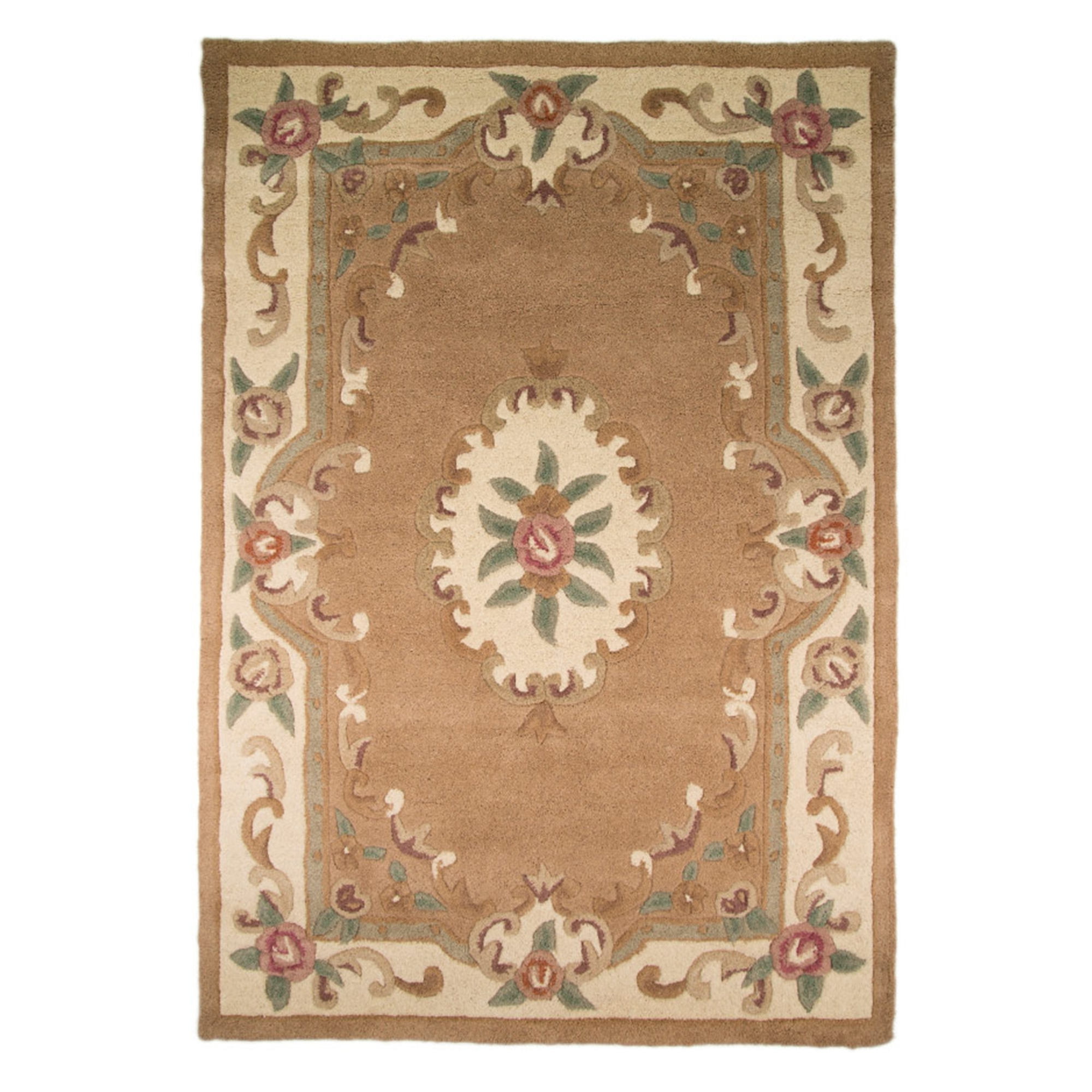 cream chic pink french wow rugs roses ivory itm subtle shabby about aar details pastel light aubusson rug