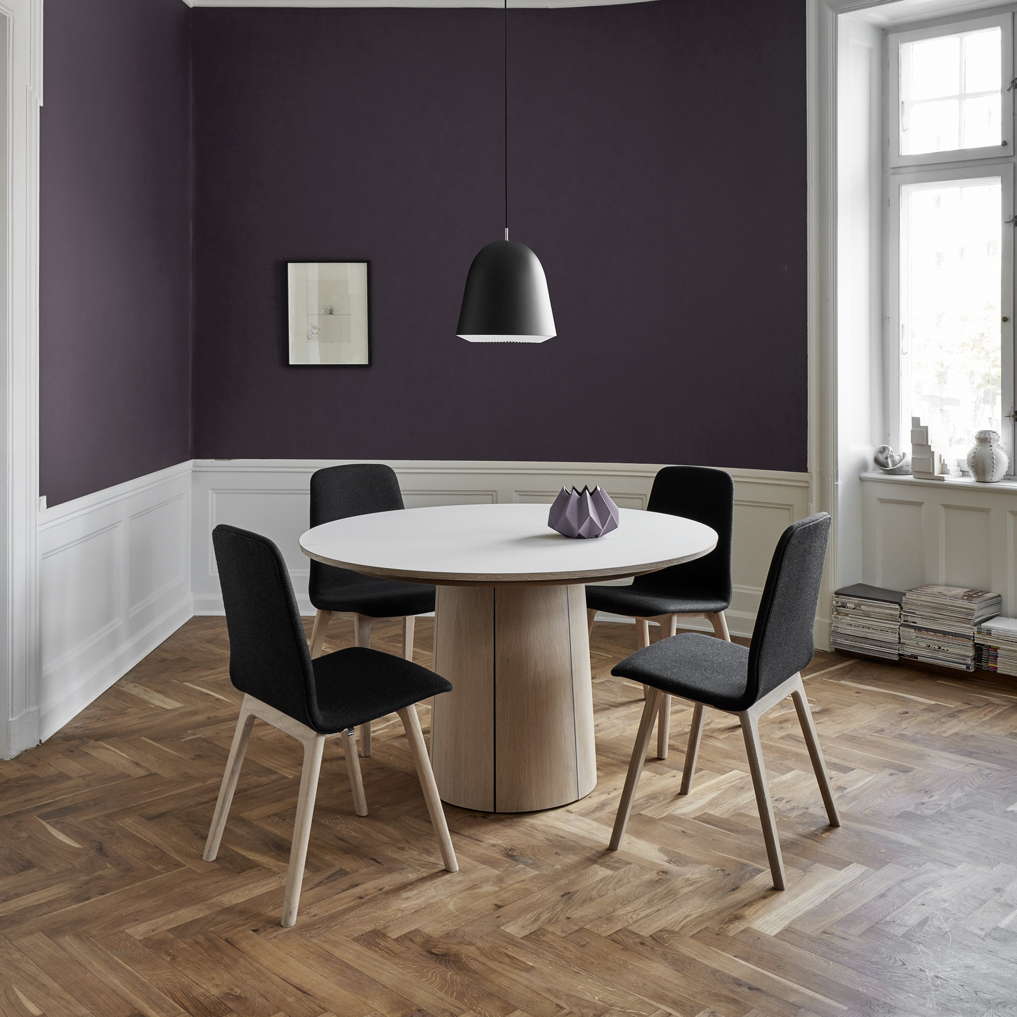 Merveilleux Skovby Extending Dining Table And 4 Chairs