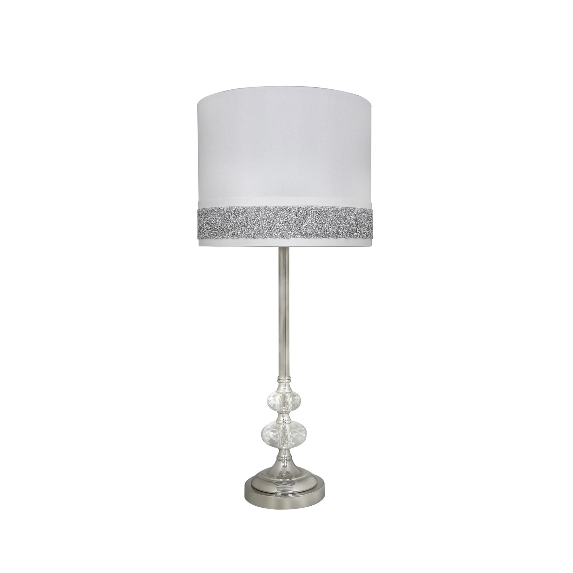 Crystal Cut Glass And Chrome Table Lamp All Lighting
