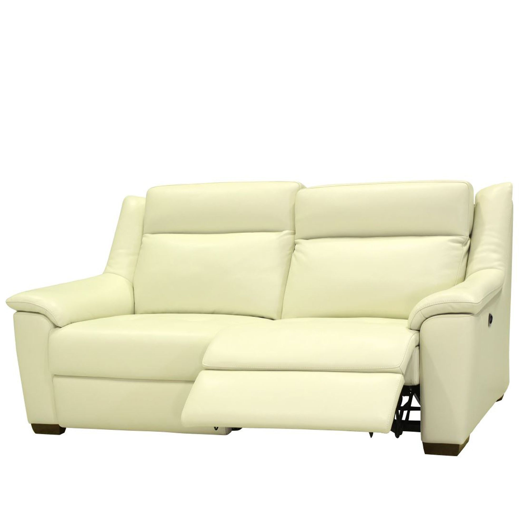 10 Best Collection Of Off White Leather Sofas: Cookes Collection Darwin 3 Seater Manual Recliner Sofa