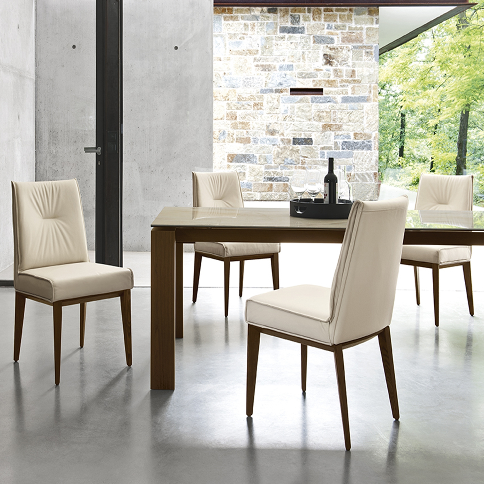Tables Calligaris Omnia Dining Table And Chairs Calligaris