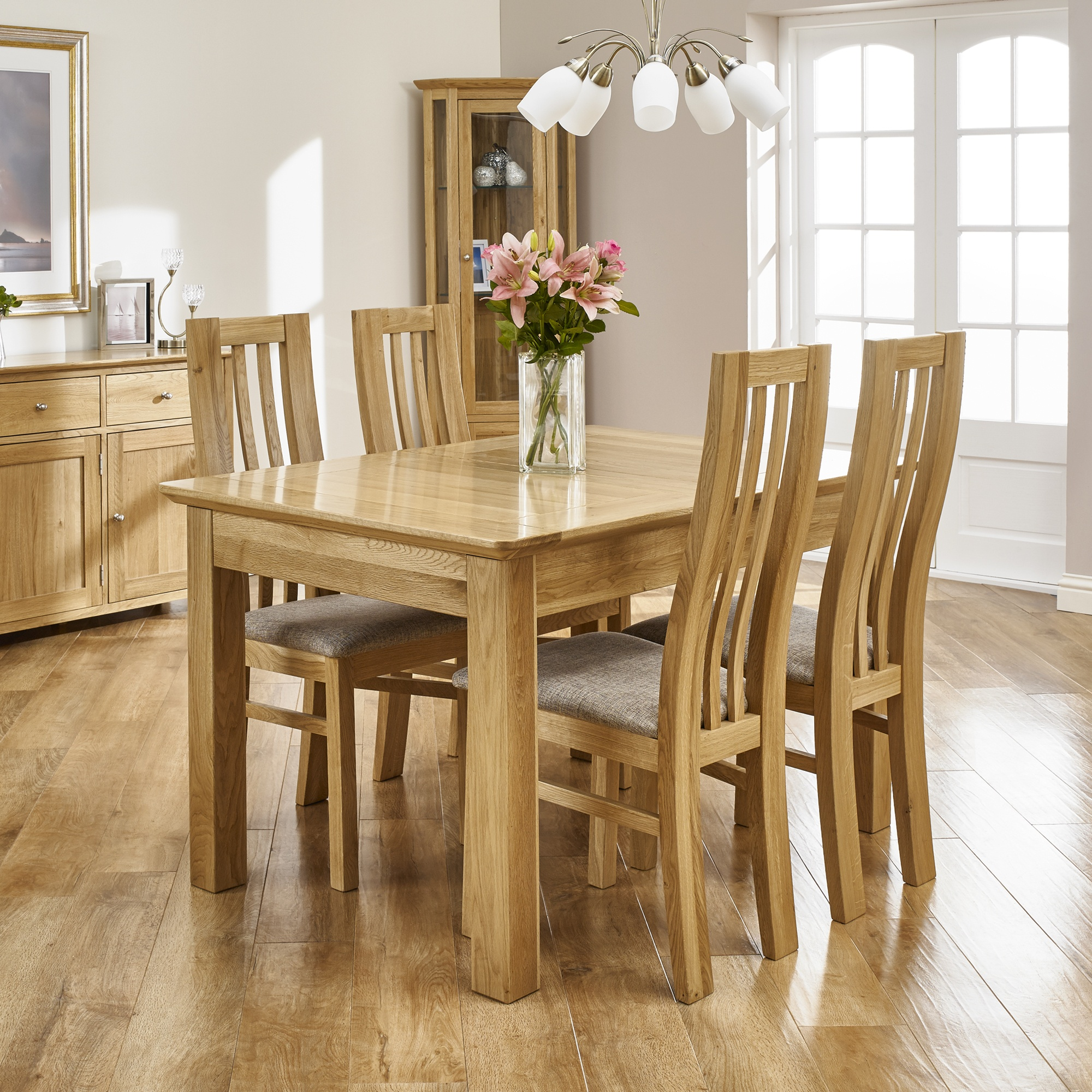 Cookes Collection Nobel Dining Table And 4 Chairs Dining Sets