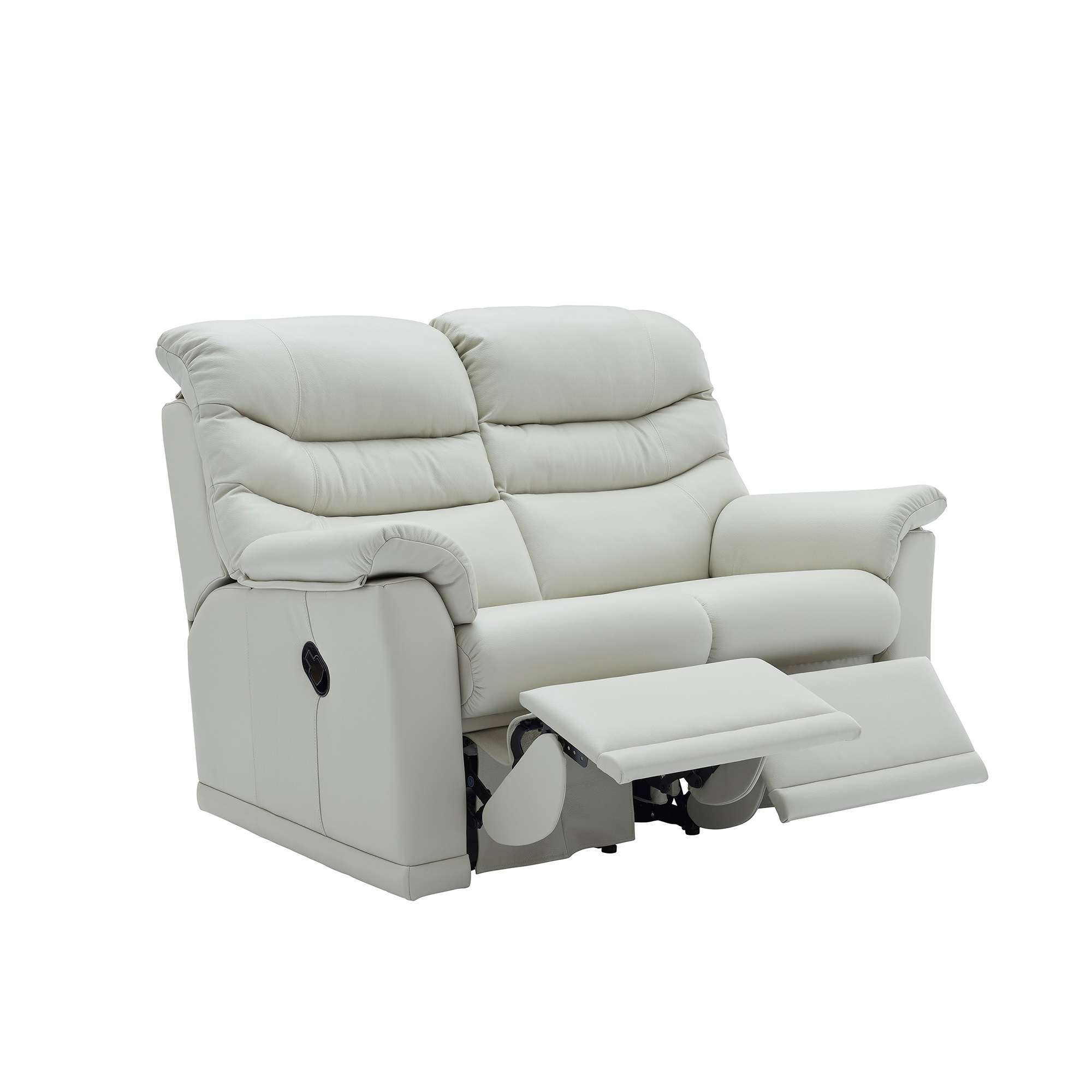 G Plan Malvern 2 Seater Double Manual Recliner Sofa In Leather