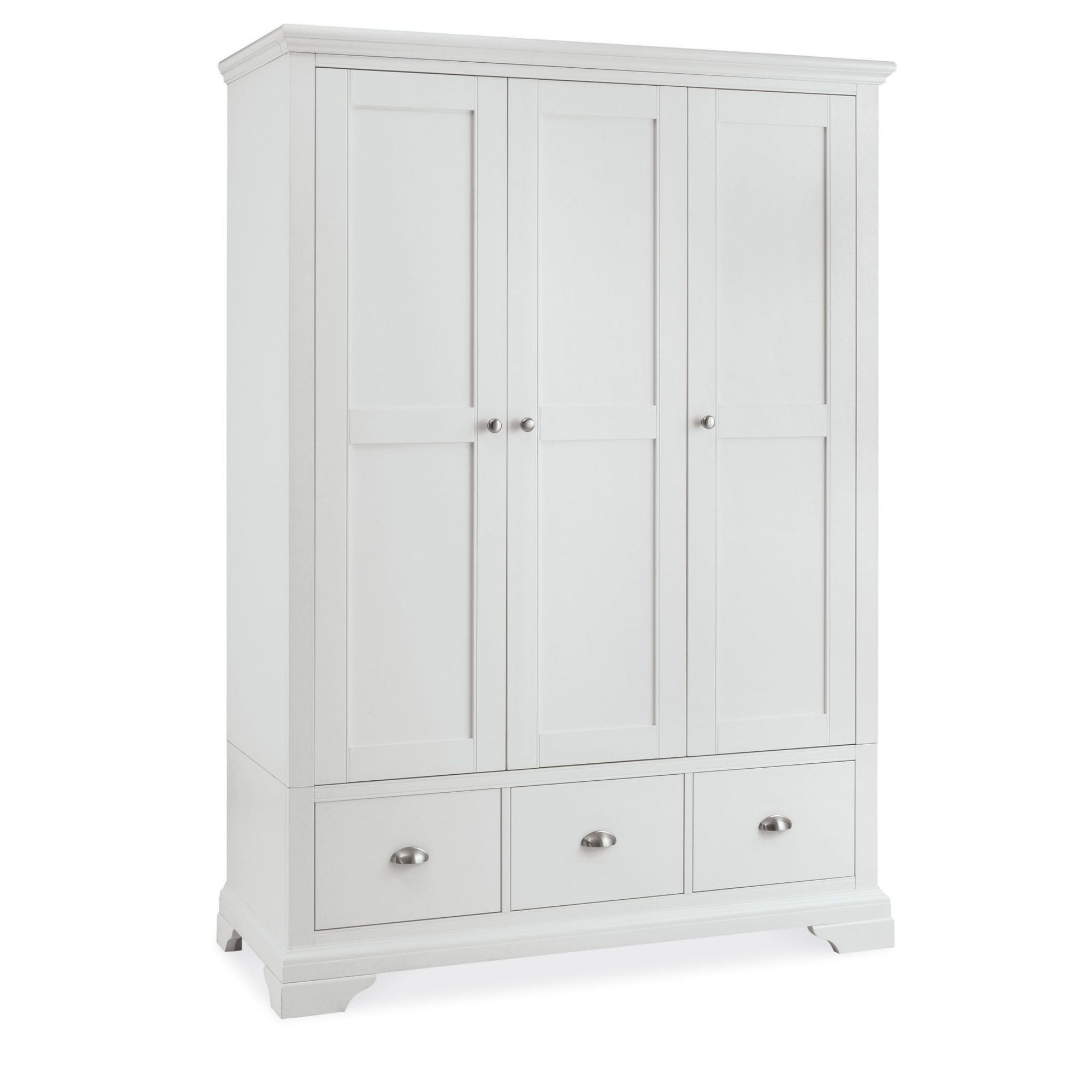 cookes collection camden white triple wardrobe - White Wardrobe
