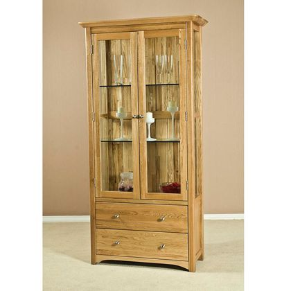Fortune Woods Nobel Glass Display Cabinet