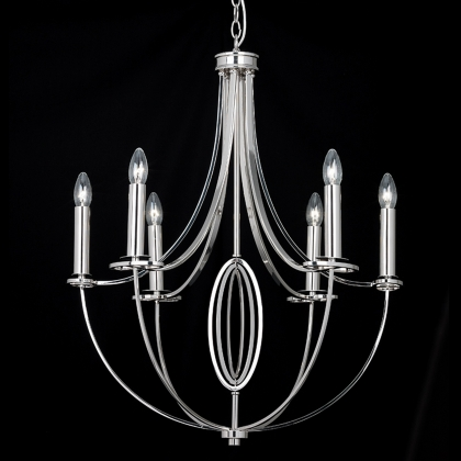 Polished Nickel 6 Light Ceiling Fitting