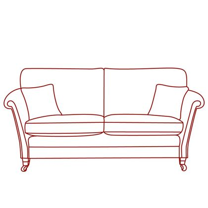 Vale Bridgecraft Lincoln 3 Seater High Arm Sofa