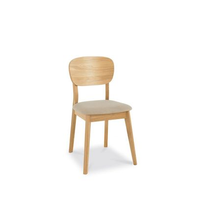 Cookes Collection Norway Oak Veneered Back Dining Chair