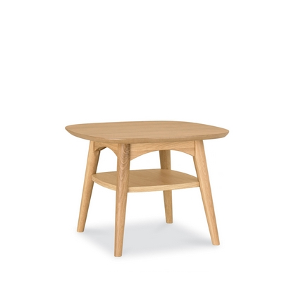 Cookes Collection Norway Oak Lamp Table With Shelf