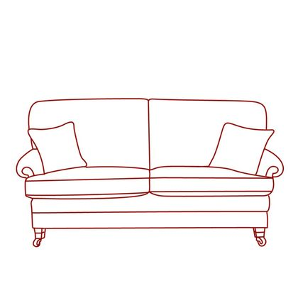 Vale Bridgecraft Lincoln 3 Seater Low Arm Sofa