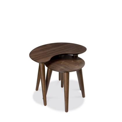 Cookes Collection Norway Walnut Nest Of Tables