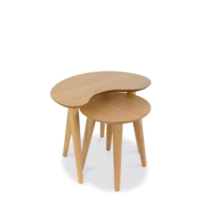 Cookes Collection Norway Oak Nest Of Tables
