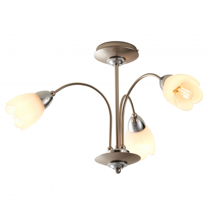 Satin Chrome 3 Light Semi Flush