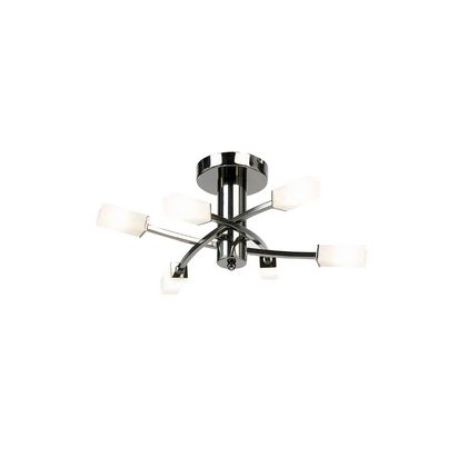 Black Chrome 6 Light Fitting