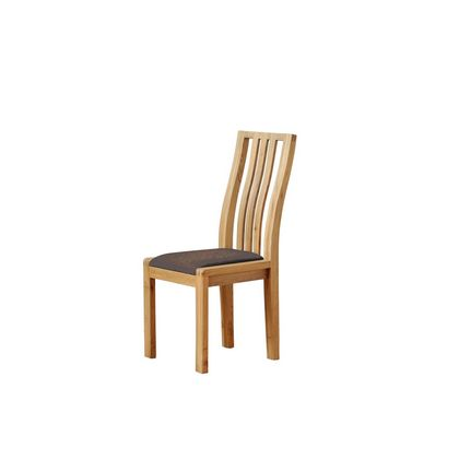 Ercol Bosco Dining Chair Brown Fabric
