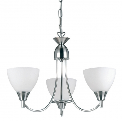 Satin Chrome 3 Light Fitting